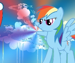 My Little Pony, Cloudsdale, Znaczek, Rainbow Dash