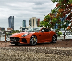 Jaguar F-Type SVR Coupe, 2016-2017, Orange Metallic