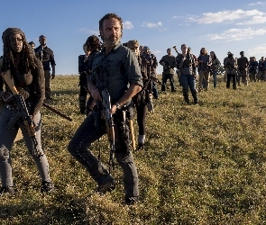 Serial, Michonne - Danai Gurira, Żywe trupy, Rick Grimes - Andrew Lincoln, The Walking Dead