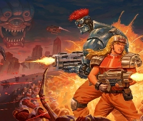 Gra, Postacie, Blazing Chrome