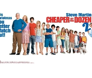Cheaper By The Dozen 2, Steve Martin, dzieci, Tom Welling, Piper Perabo, Bonnie Hunt