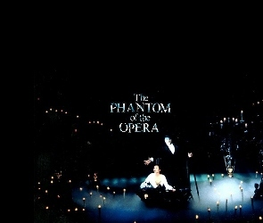 Phantom Of The Opera, tło, świece, czarne, scena