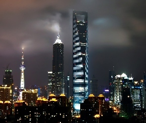 Chiny, Center, World, Financial, Shanghai
