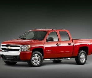 Czerwony, Up, Pick, Chevrolet Silverado