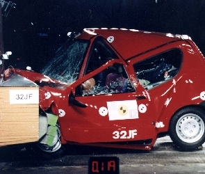 Fiat Seicento, Test, Crash