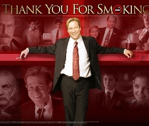 Katie Holmes, Aaron Eckhart, Thank You For Smoking, garnitur, Sam Elliott, Cameron Bright, William H. Macy, Maria Bello