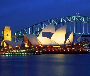 Australia, Sydney Opera House, Zatoka Port Jackson, Most Sydney Harbour Bridge, Sydney