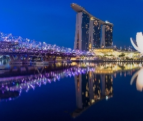 Singapur, Marina Bay Sands, Noc, Most