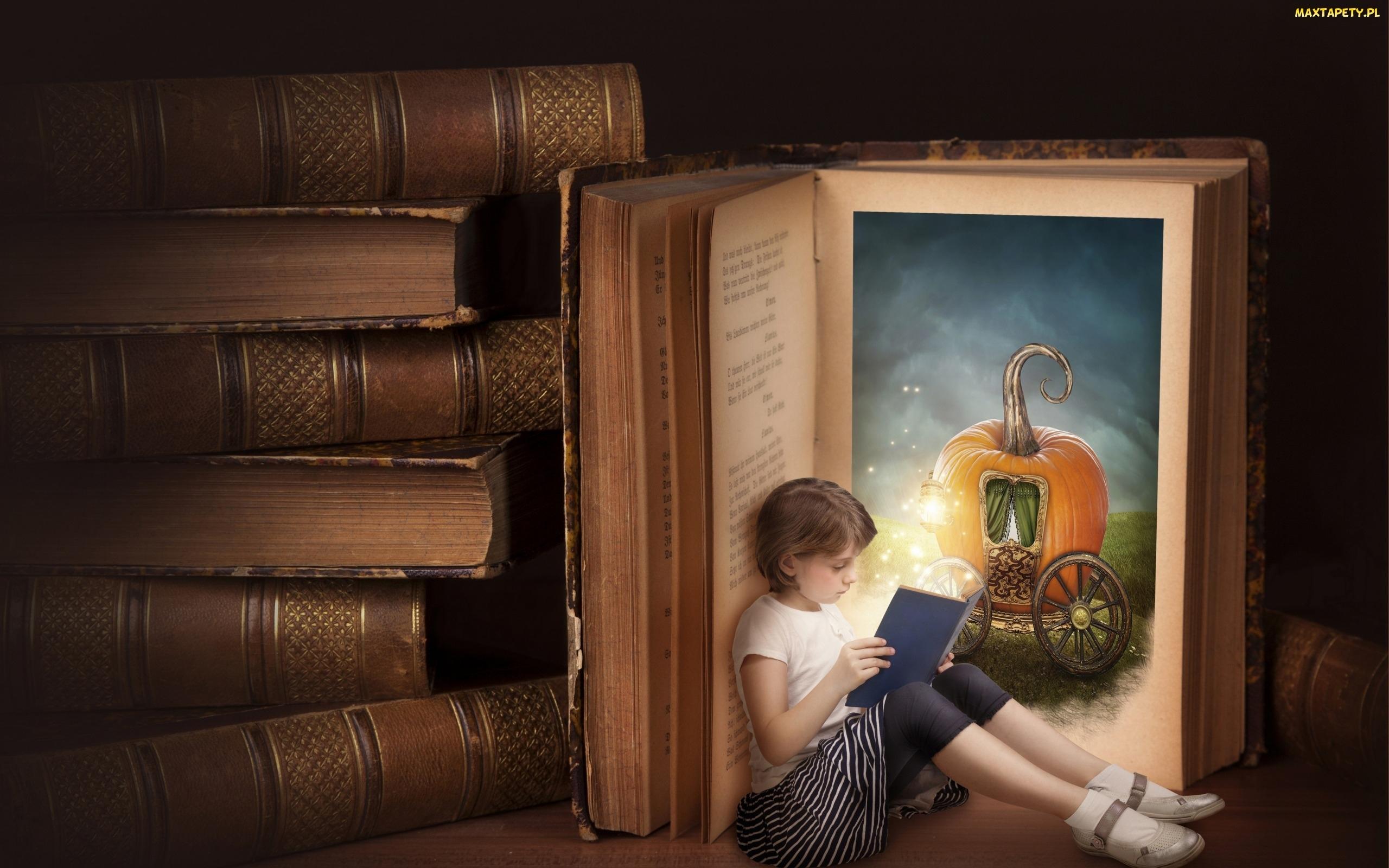 Tapety, zdjęcia - Książki, Bajka, Dziewczynka