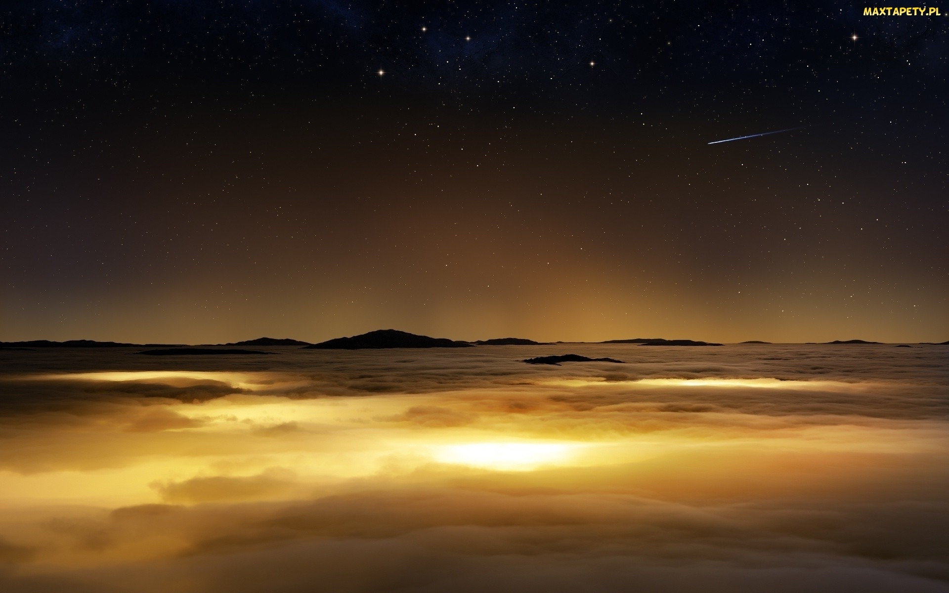 Chmury, Rozgwieżdżone, Noc, Niebo