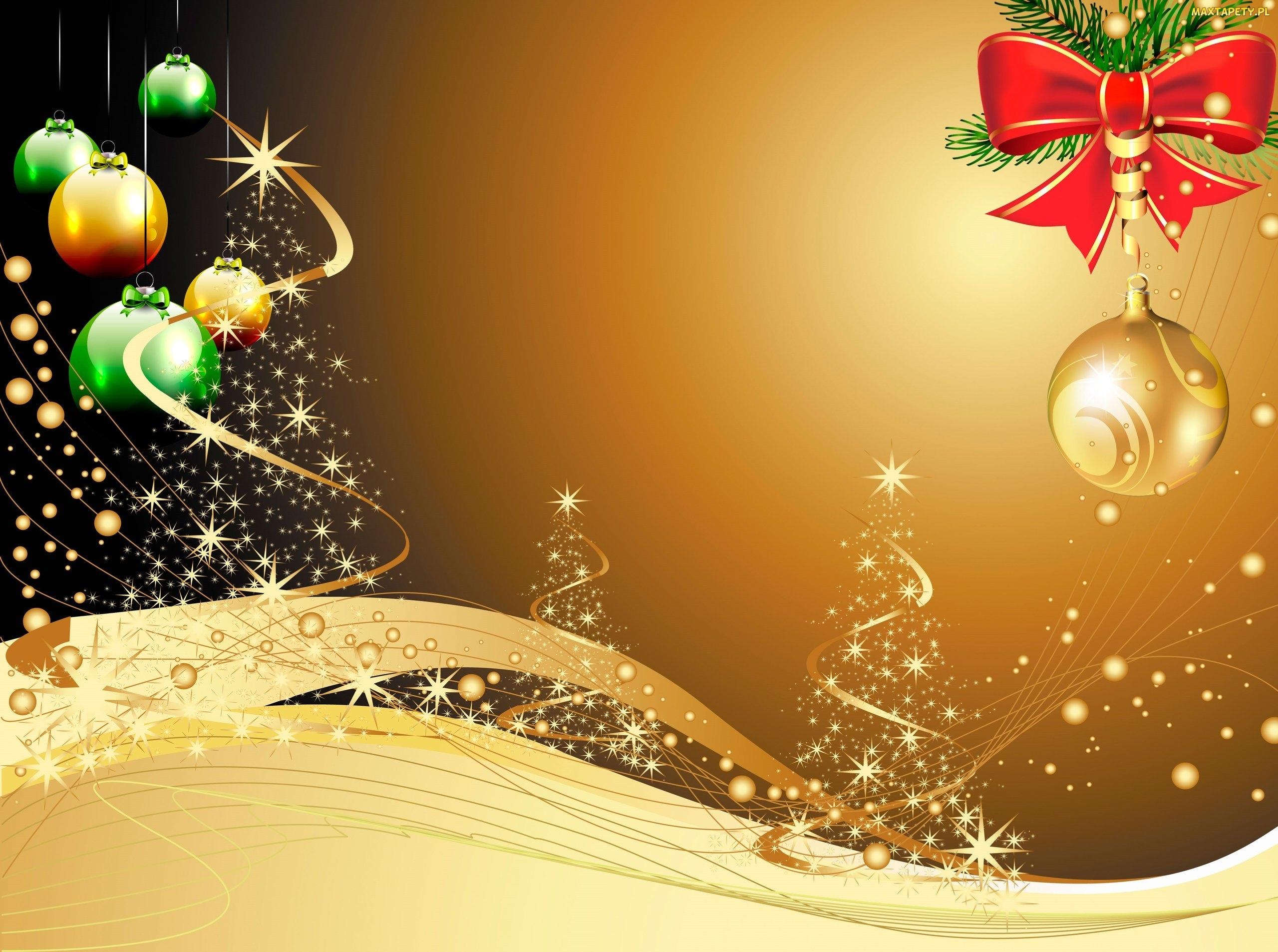 Tapety zdj cia grafika 2d kokardka bombki bo e for Natale immagini per desktop