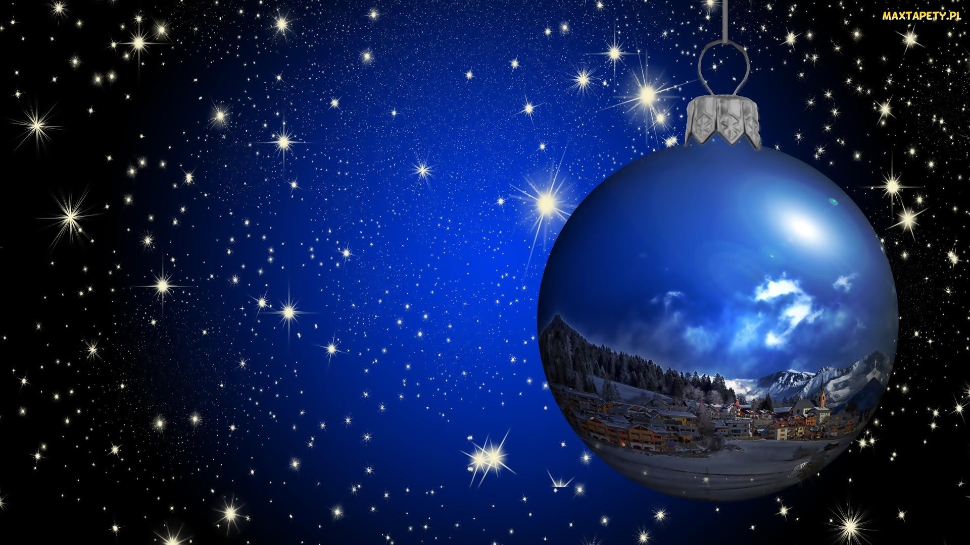 Tapety zdj cia wi teczna gwiazdy bombka niebo for Sfondi natalizi 1920x1080